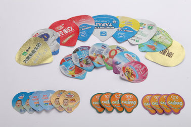 Heat Sealed Lacquer Die Cut Lids For Dairy Products 8 Colors Printing